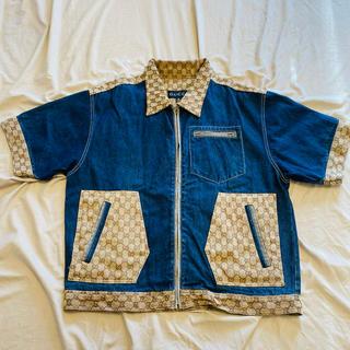 グッチ(Gucci)のグッチ GUCCI デニム半袖ジャケット XL 難あり(Gジャン/デニムジャケット)