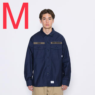 W)taps - WTAPS BUDS / LS / COTTON. SATIN NAVY M