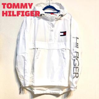 TOMMY HILFIGER - トミー ヒルフィガー ロゴ ナイロン ジャケット パーカー 新品 白 ブランド