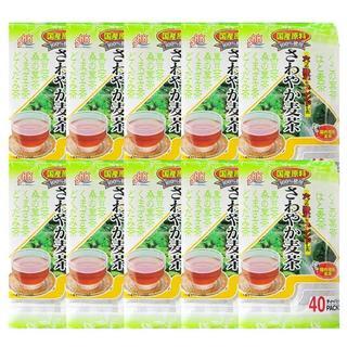 さわやか麦茶40p×10袋 佐賀県産大麦100%はと麦・どくだみ・桑の葉(茶)