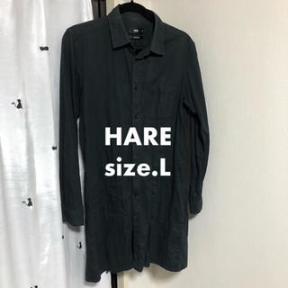 ハレ(HARE)の◯USED◯HARE コットン ロングシャツ ネルシャツ  Lサイズ(シャツ)