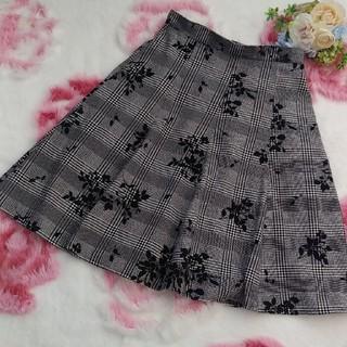 パターンフィオナ(PATTERN fiona)の美品🎀パターン🎀フェミニンスカート🌹秋冬スカート🌹(ひざ丈スカート)