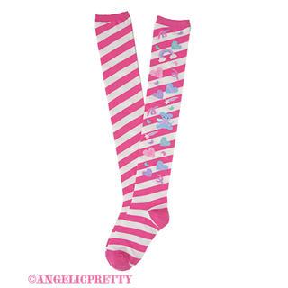 Angelic Pretty - Angelic Pretty Girly Stickerオーバーニー DPK