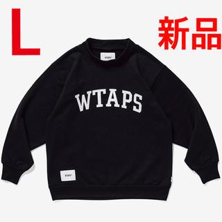 W)taps - L 新品 WTAPS COLLEGE MOCK NECK BLACK 20AW