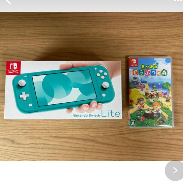 任天堂(ニンテンドウ)のNintendo Switch LITE あつまれどうぶつの森 セット エンタメ/ホビーのゲームソフト/ゲーム機本体(携帯用ゲーム機本体)の商品写真