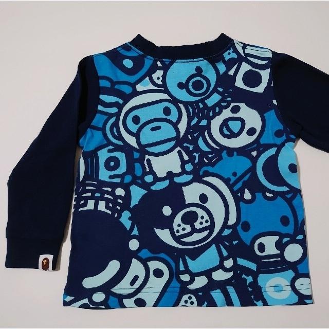 A BATHING APE(アベイシングエイプ)の美品 ベイプ キッズ 90 キッズ/ベビー/マタニティのキッズ服男の子用(90cm~)(Tシャツ/カットソー)の商品写真