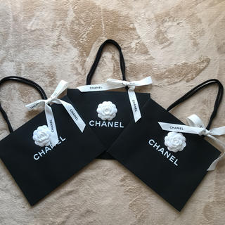 CHANEL - CHANEL♡シャネル  ショッパー  カメリア&リボン付き  3枚セット
