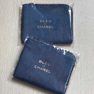 CHANEL - BLUE de CHANEL ノベルティ ポーチ 小物入れ