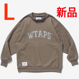 W)taps - L 新品 WTAPS COLLEGE MOCK NECK BEIGE 20AW