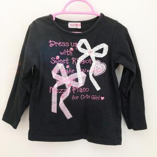 mezzo piano - ❤︎mezzo piano❤︎ いちご刺繍長袖Tシャツ 110cm