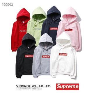[最終価格]supremeシュプリーム☆2枚11810円☆パーカーフード付きロゴ