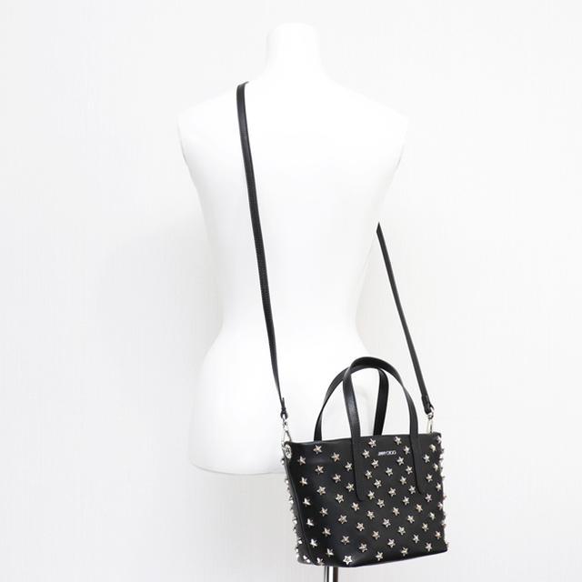 JIMMY CHOO(ジミーチュウ)の新品 ジミーチュウ トートバッグ ミニバッグ ショルダーバッグ ポシェット 人気 レディースのバッグ(ショルダーバッグ)の商品写真