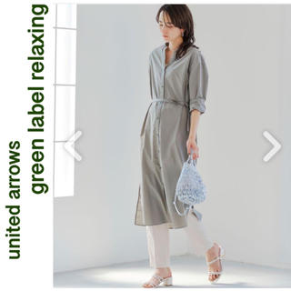 green label relaxing - グリーンレーベル シャツワンピース ロングカーディガン 羽織り