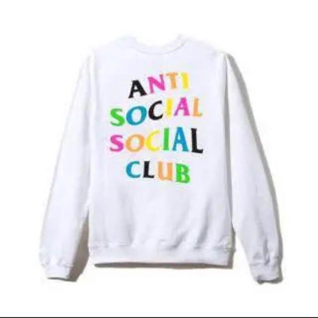 ANTI(アンチ)のantisocialsocialclub rainbow crew Lサイズ  メンズのトップス(スウェット)の商品写真