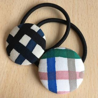 ミナペルホネン(mina perhonen)のミナペルホネン ヘアゴム handmade minamo 2点セット(ヘアアクセサリー)