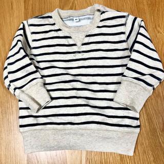 ムジルシリョウヒン(MUJI (無印良品))の★無印良品 長袖 ボーダーシャツ 80サイズ(シャツ/カットソー)