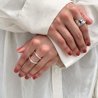 フィリップオーディベール(Philippe Audibert)のmou  2連シンプルリング(リング(指輪))