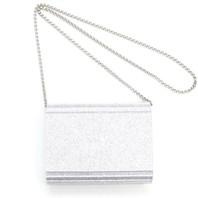 JIMMY CHOO(ジミーチュウ)の新品 ジミーチュウ ショルダーバッグ 斜めがけ チェーンバッグ CANDY 人気 レディースのバッグ(ショルダーバッグ)の商品写真