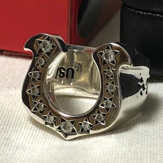 テンダーロイン(TENDERLOIN)の10号 テンダーロイン ホースシューリング ダイヤ入り(リング(指輪))