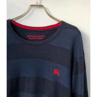 バーバリーブラックレーベル(BURBERRY BLACK LABEL)のバーバリーブラックレーベル ホースマーク刺繍 ボーダー ニット セーター 3 L(ニット/セーター)