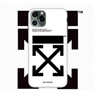 OFF-WHITE - お洒落なデザイン  オフホワイト iPhoneケース