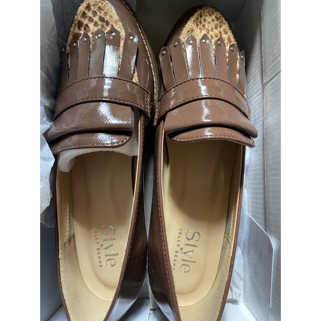 JELLY BEANS(ジェリービーンズ)の更に値下げ!JELLY BEANS 24.5 ブラウン 秋冬 ローファー   レディースの靴/シューズ(ローファー/革靴)の商品写真