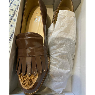 ジェリービーンズ(JELLY BEANS)のJELLY BEANS 24.5 ブラウン 秋冬 ローファー  (ローファー/革靴)