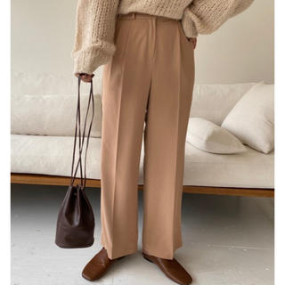 TODAYFUL - lawgy tuck straight pants Beige