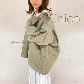 who's who Chico - 新品タグ付きwho's who Chicoフーズフーチコツイルフライトジャケット