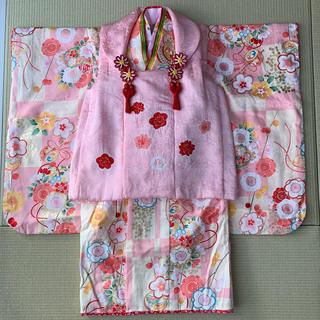 七五三 着物 三歳セット 正絹 式部浪漫(和服/着物)