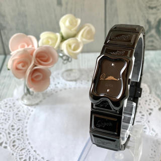Q-pot. - 【美品】Q-pot. キューポット 腕時計 メルティー チョコレート ブラック