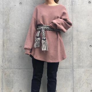カスタネ(Kastane)の♡ ワッフル くすみピンク ♡(カットソー(長袖/七分))