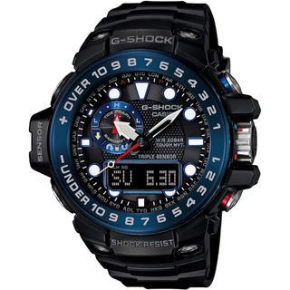 ジーショック(G-SHOCK)のカシオ G-SHOCK ガルフマスター 電波ソーラー 腕時計 ブラック×ブルー(腕時計(アナログ))
