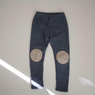 【人気】ボア レギンスパンツ 120 ブルー 韓国子供服