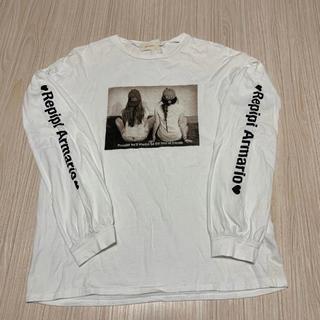 レピピアルマリオ(repipi armario)のrepipi armario☆ロンT☆ホワイト☆サイドプリント☆レピピアルマリオ(Tシャツ/カットソー)