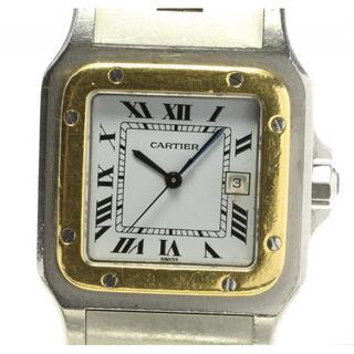 カルティエ(Cartier)のベルトジャンク☆ カルティエ サントスガルベLM デイト  メンズ 【中古】(腕時計(アナログ))