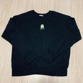 レピピアルマリオ(repipi armario)のrepipi armario☆スウェット☆ブラック☆トレーナー☆レピピアルマリオ(Tシャツ/カットソー)
