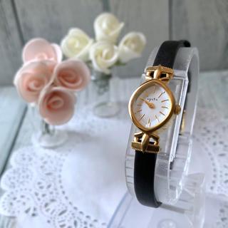 アガット(agete)の【美品】agete アガット 腕時計 シェル 文字盤 ゴールド(腕時計)