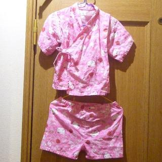 ハローキティ(ハローキティ)のハローキティの甚平 サイズ90 <543>(甚平/浴衣)