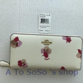 COACH - COACH  F53794 コーチ  長財布  花柄  ホワイト