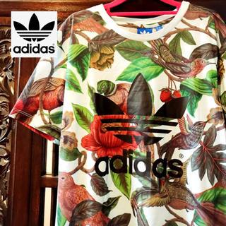adidas - アディダス ファーム ジャージ 花柄 鳥 Tシャツ タンクトップ 花鳥風月
