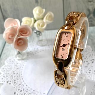 celine - 【美品】セリーヌ CELINE 腕時計 レクタンギュラ ピンクゴールド