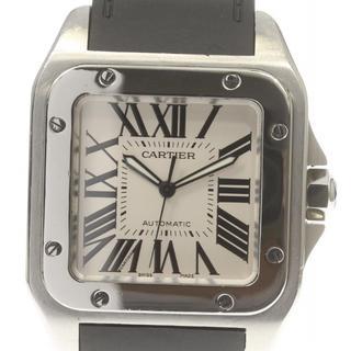 カルティエ(Cartier)のカルティエ サントス100LM  W20076X8 自動巻き メンズ 【中古】(腕時計(アナログ))