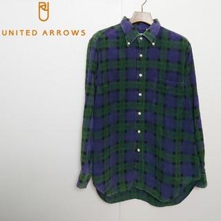 UNITED ARROWS - UNITED ARROWS ユナイテッドアローズ コーデュロイチェックシャツ