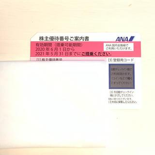 ANA(全日本空輸) - ANA 全日空 株主優待券 2021.5.31迄