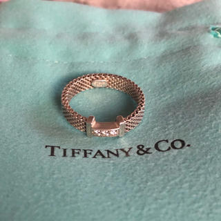 Tiffany & Co. - Tiffany & Co.ティファニー♡メッシュリング3Pダイヤサマセットリング