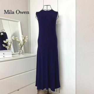 Mila Owen - 【美品】 Mila Owen ミラオーウェンノースリーブニットワンピース