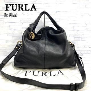 超美品 フルラ  FURLA レザー 2wayバッグ ハンドバッグ