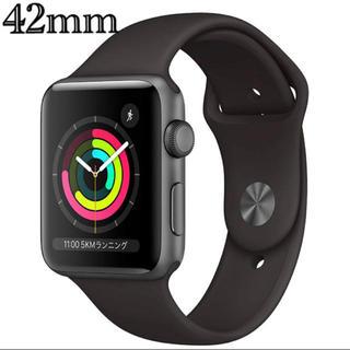 アップルウォッチ(Apple Watch)のApple Watch Series 3(GPSモデル)- 42mm(腕時計(デジタル))