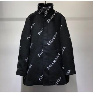 バレンシアガ(Balenciaga)のバレンシアガ メンズ ロゴ コート コットン ブラック(テーラードジャケット)